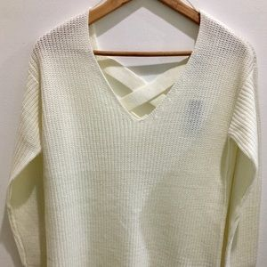 Ivory Criss-Cross Sweater